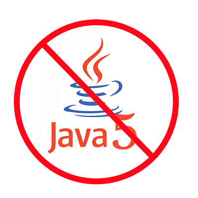 No More Java 5