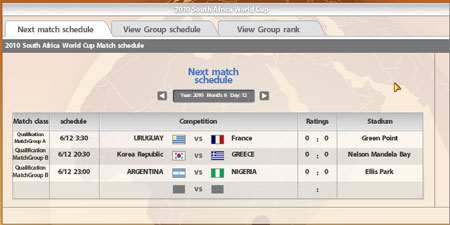 World Cup Schedule in FIFA Online 2