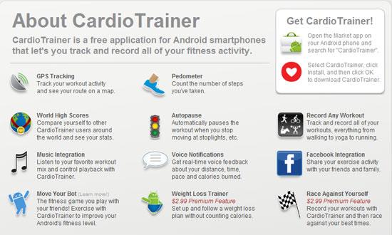 Cardio Trainer Functions