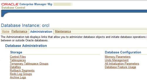 Oracle Enterprise Manager 10G