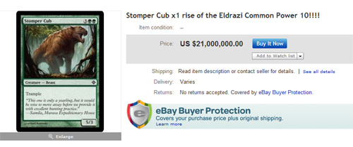 Crazy Price Stomper Cub at eBay