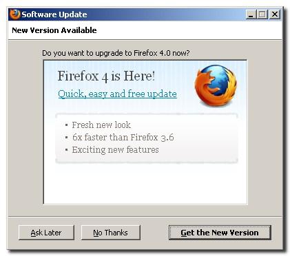 Firefox 4 New Install