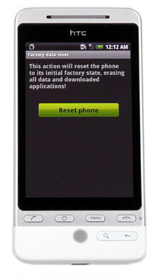 HTC Hero Reset