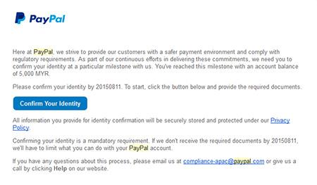 paypal limitation malaysia RM5000